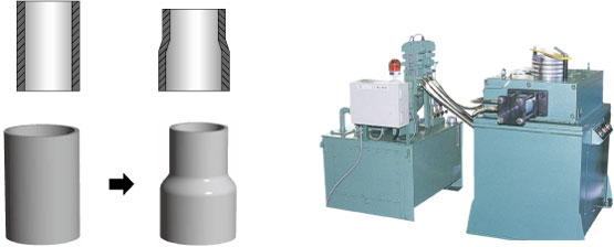 Bulging processing machine