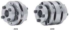 AH series / Flexible, steel coupling type with disk spring